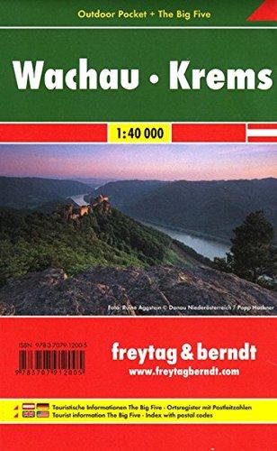 Freytag Berndt Wanderkarten, Wachau - Krems, Outdoor Pocket + The Big Five, wasserfest - Maßstab 1 :40 000: Wandelkaart 1:40 000 (freytag & berndt Wander-Rad-Freizeitkarten)