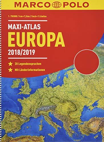 MARCO POLO Maxi-Atlas Europa 2018/2019 (MARCO POLO Reiseatlanten)
