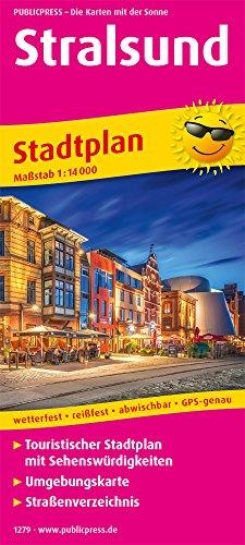 Stralsund: Touristischer Stadtplan mit Sehenswürdigkeiten und Straßenverzeichnis. 1:14000 (Stadtplan / SP)