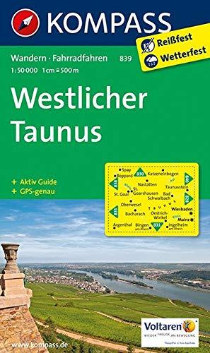 Westlicher Taunus 1 : 50 000: Wandelkaart 1:50 000 (KOMPASS-Wanderkarten, Band 839)
