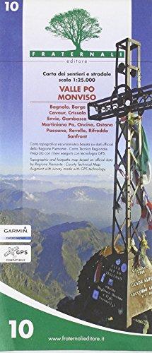 Wanderkarte Piemont Blatt 10 Valle Po Monviso 1:25.000 - Provinz Turin / Torino, Italien topographische Wanderkarte 1:25.000 mit Höhenlinien