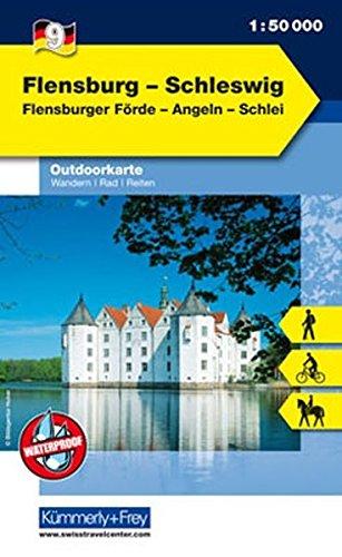 Outdoorkarte 09 Flensburg - Schleswig 1 : 50.000: Wandern, Rad, Reiten.Flensburger Förde, Angeln, Schlei (Kümmerly+Frey Outdoorkarten Deutschland)