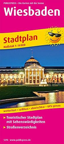 Wiesbaden: Touristischer Stadtplan mit Sehenswürdigkeiten und Straßenverzeichnis. 1:14000 (Stadtplan / SP)