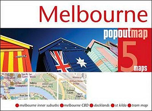 Popout: Melbourne (Popout Maps) Double Map