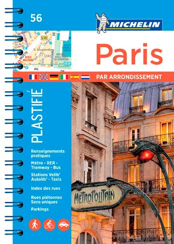 Michelin Stadtplan Paris par arrondissement: Spiralbindung, plastifiziert (MICHELIN Stadtpläne, Band 206721140)
