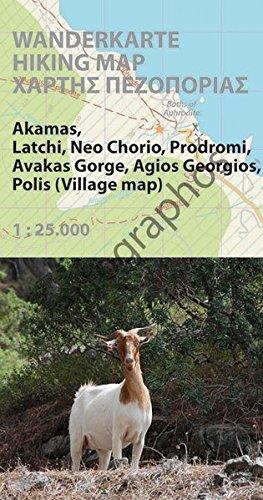 Hiking map Cyprus (Akamas Region): Wanderkarte 1:25.000, GPS-genau