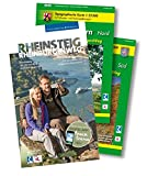 Rheinsteig & Rheinburgenweg. Premium-Set mit Buch und zwei Wanderkarten  TK 25 des LVermGeo.  530 Kilometer Wanderspaß. 33 Etappen. GPS & Karten-Download