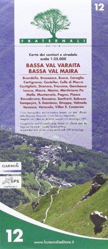 Wanderkarte Piemont Blatt 12 Bassa Val Varaita Bassa Val Maira 1:25.000 - Provinz Turin / Torino, Italien topographische Wanderkarte 1:25.000 mit Höhenlinien