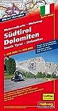 Südtirol-Dolomiten Motorradkarte 1 : 650.000: 15 Motorradtouren, Unterkünfte, Sehenswürdigkeiten (Hallwag Freizeitkarten)