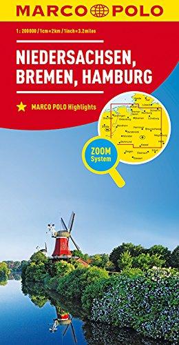 MARCO POLO Karte Deutschland Blatt 3 Niedersachsen, Bremen, Hamburg 1:200 000: Wegenkaart 1:200 000 (MARCO POLO Karten 1:200.000)