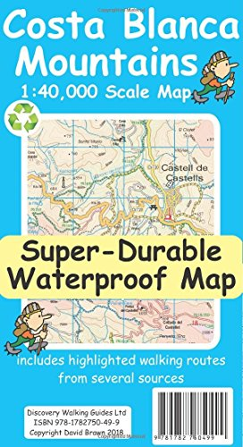 Costa Blanca Mountains Tour & Trail Super-Durable Map (2nd ed)