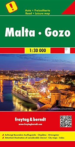 Malta - Gozo, Autokarte 1:30.000: Wegenkaart 1:30 000 (freytag & berndt Auto + Freizeitkarten)