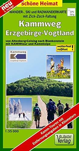 Doktor Barthel Wander- und Radwanderkarten, Wanderkarte und Radwanderkarte Erzgebirgskamm von Altenberg bis Schöneck (Touren-Spezial)
