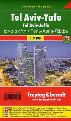 Tel Aviv-Yafo, Stadtplan 1:9.400, Freytag Berndt Stadtpläne