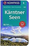 KOMPASS Wanderführer Kärntner Seen: Wanderführer mit Extra-Tourenkarte 1:75000, 55 Touren, GPX-Daten zum Download.