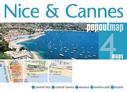 Nice & Cannes ( Popout Map) (Popout Maps)