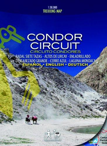 Condor Circuit - Wanderkarte, Zentralchile, 1:50.000 / 1:25.000