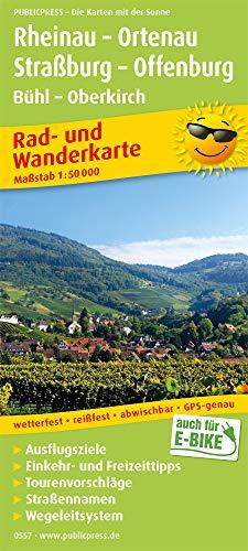 Rheinau - Ortenau, Straßburg - Offenburg, Bühl - Oberkirch: Rad- und Wanderkarte mit Ausflugszielen, Einkehr- & Freizeittipps und Nebenkarte ... 1:50000 (Rad- und Wanderkarte / RuWK)