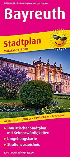 Bayreuth: Touristischer Stadtplan mit Sehenswürdigkeiten und Straßenverzeichnis. 1 : 14 000 (Stadtplan / SP)