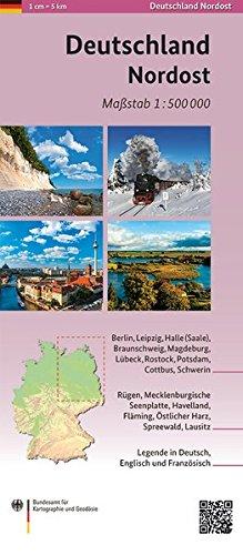 Deutschland Nordost 1:500 000: Übersichtskarte (Übersichtskarten (ÜK) 1:500000)