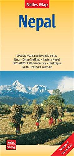 Nepal   Népal: 1 : 480,000 / 1 : 1,500,000   reiß- und wasserfest; indéchirable et imperméable; irrompible & impermeable (Nelles Map / Strassenkarte)
