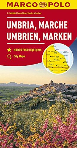 MARCO POLO Karte Italien Blatt 8 Umbrien, Marken 1:200 000: Wegenkaart 1:200 000 (MARCO POLO Karten 1:200.000)
