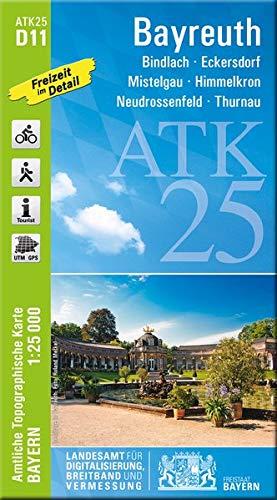 ATK25-D11 Bayreuth (Amtliche Topographische Karte 1:25000): Bindlach, Eckersdorf, Mistelgau, Himmelkron, Neudrossenfeld, Thurnau, Bad Berneck (ATK25 Amtliche Topographische Karte 1:25000 Bayern)
