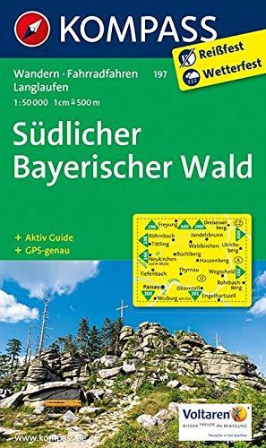 KOMPASS Wanderkarte Südlicher Bayerischer Wald: Wanderkarte mit Aktiv Guide, Radwegen und Langlaufloipen. GPS-genau. 1:50000: Wandelkaart 1:50 000 (KOMPASS-Wanderkarten, Band 197)