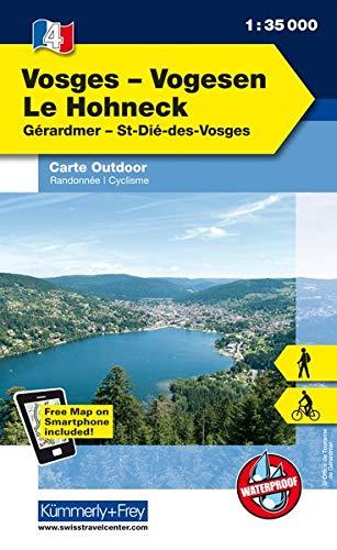 K&F Elsass / Vogesen Outdoorkarte 04 Vogesen - Le Hohneck 1 : 35 000 (Kümmerly+Frey Outdoorkarten Frankreich)