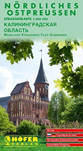Höfer Straßenkarten, Nördliches Ostpreußen (mit Memelland). Maßst. 1:200.000.