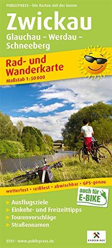 Zwickau, Glauchau - Werdau - Schneeberg: Rad- und Wanderkarte mit Ausflugszielen, Einkehr- & Freizeittipps, Straßennamen, wetterfest, reissfest, ... 1:50000 (Rad- und Wanderkarte / RuWK)