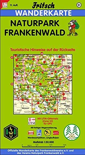 Fritsch Karten, Nr.51, Naturpark Frankenwald (Fritsch Wanderkarten 1:50000)