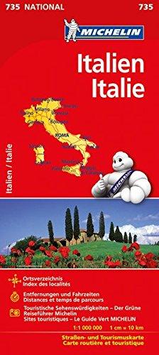 Michelin Italien: Straßen- und Tourismuskarte (MICHELIN Nationalkarten)
