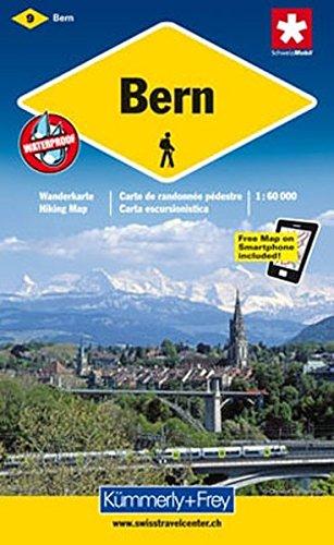 Bern 1 : 60 000. Wanderkarte (Kümmerly+Frey Wanderkarten)