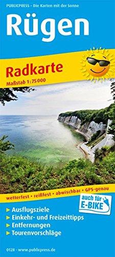Rügen, Bergen - Sassnitz - Stralsund: Radkarte mit Ausflugszielen, Einkehr- & Freizeittipps, wetterfest, reißfest, abwischbar, GPS-genau. 1:75000 (Radkarte / RK)