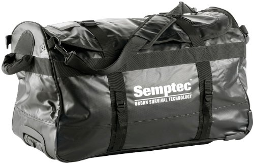 Semptec Urban Survival Technology Reisetasche mit Rollen: 2in1-Trolley-Reisetasche aus reißfester LKW-Plane, 100 l (Reisetasche LKW Plane Rollen)