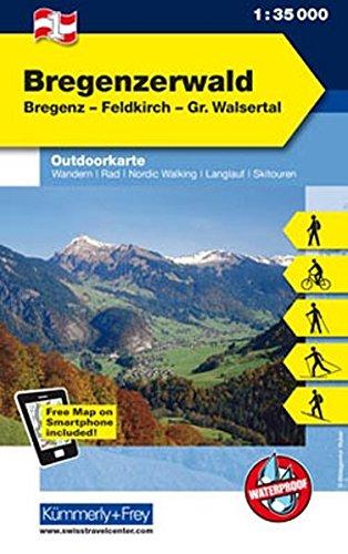 Bregenzerwald: Nr. 01, Outdoorkarte Österreich, 1:35 000 (Kümmerly+Frey Outdoorkarten Österreich)