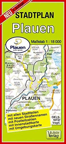 Stadtplan Plauen: 1:18000