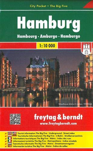 Hamburg, City Pocket, Stadtplan 1:10.000
