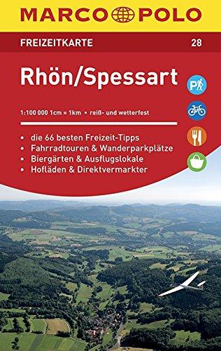 MARCO POLO Freizeitkarte Rhön, Spessart 1:100 000: Toeristische kaart 1:100 000