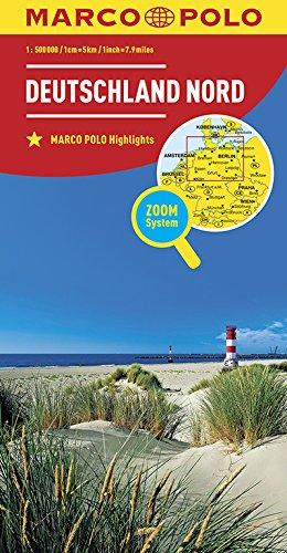 MARCO POLO Regionalkarte Deutschland Nord (MARCO POLO Karten 1:500.000): Wegenkaart 1:200 000 (MARCO POLO Länderkarten)