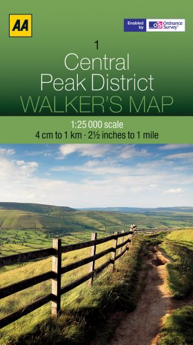 Central Peak District (Walker's Map, Band 7)