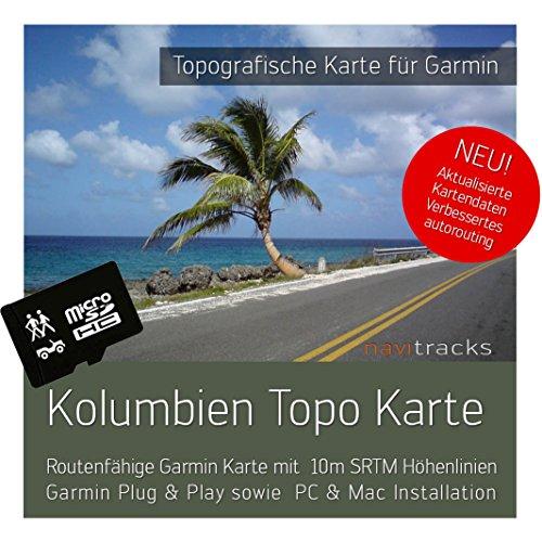Kolumbien Garmin Karte Topo 4 GB microSD. Topografische GPS Freizeitkarte für Fahrrad Wandern Touren Trekking Geocaching & Outdoor. Navigationsgeräte, PC & MAC