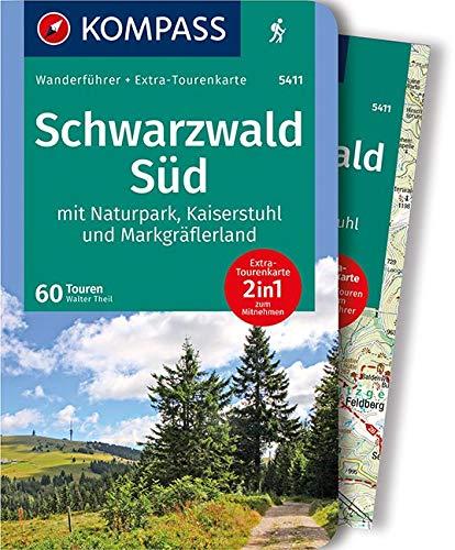 KOMPASS Wanderführer Schwarzwald Süd mit Naturpark, Kaiserstuhl und Markgräflerland: Wanderführer mit Extra-Tourenkarte 1:75.000, 60 Touren, GPX-Daten zum Download.