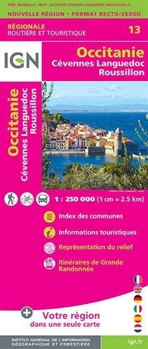 Occitanie  (Cévennes-Languedoc-Roussillon) Recto/verso 1:250 000