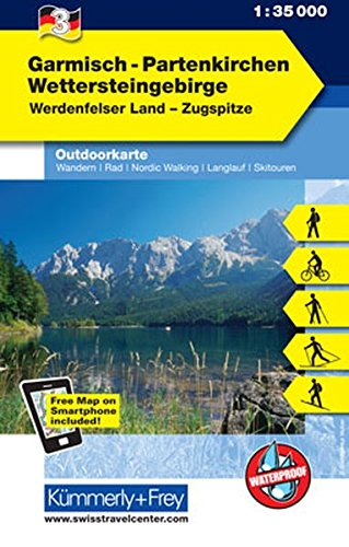 Garmisch - Partenkirchen Outdoorkarte Deutschland Nr. 3: 1:35 000, Mit kostenlosem Download für Smartphone (Kümmerly+Frey Outdoorkarten Deutschland)