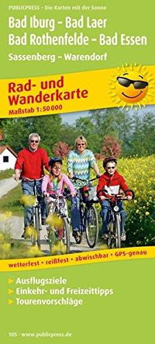 Bad Iburg - Bad Laer - Bad Rothenfelde - Bad Essen, Sassenberg - Warendorf: Rad- und Wanderkarte mit Ausflugszielen, Einkehr- & Freizeittipps, ... 1:50000 (Rad- und Wanderkarte / RuWK)