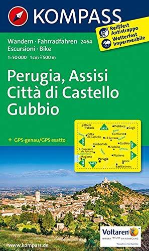 KOMPASS Wanderkarte Perugia - Assisi - Città di Castello - Gubbio: Wanderkarte mit Radtouren. GPS-genau. 1:50000: Wandelkaart 1:50 000 (KOMPASS-Wanderkarten, Band 2464)