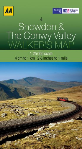 Snowdon and The Conwy Valley (Walker's Map)