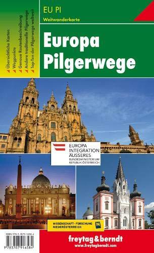 Europa Pilgerwege, Wanderkarte 1:2.000.000 - 1:3.500.000 (freytag & berndt Wander-Rad-Freizeitkarten)